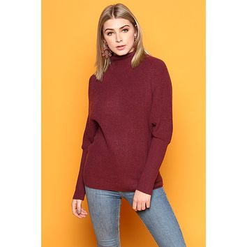BB Dakota Sugar Glider Sweater - Burgundy