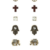 LOVEsick Spiritual Symbols Earrings 6 Pair