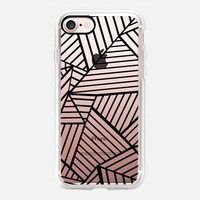 Abstraction Lines Zoom Transparent iPhone 7 Case by Project M | Casetify