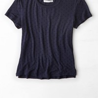 AEO Women's Baby T-shirt (Navy)