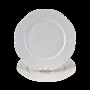 "Haviland Limoges Ranson Dinner Plates, 9 3/4"", 2pc Set, Schleiger 1"