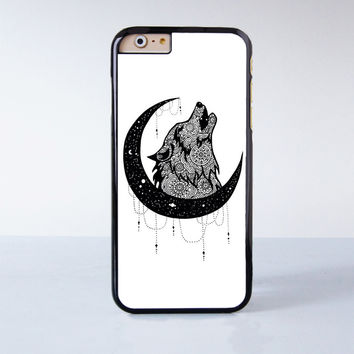 Moon Wolf  Plastic Case Cover for Apple iPhone 6 6 Plus 4 4s 5 5s 5c