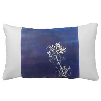 nature art pillow blue and gray home decor
