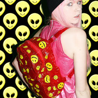 Inflatable Smiley Face Backpack