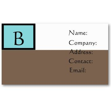 Monogram business cards-classy from Zazzle.com