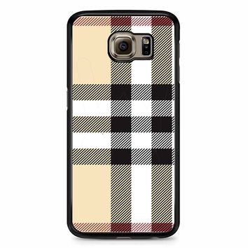 Burberry Pattern Samsung Galaxy S6 Case