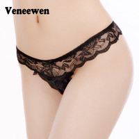 ]Ultra-thin mesh Transparent ]Bragas Mujer Women's Soft Briefs Bow Panties