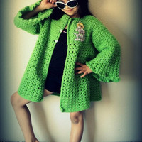 CROCHET PATTERN Cardigan INSTANT Download / Crochet Pattern Girls Jacket Instant Download / Girls jacket crochet pattern / Spring Coat