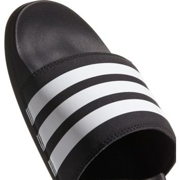adidas Men's Adilette Cloudfoam Plus Stripes Slides | Academy