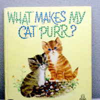 1965 What Makes My Car Purr Vintage Childrens Book by VintageWoods