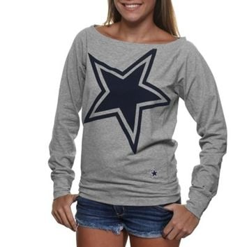 Dallas Cowboys Ladies Wildcard Epic Sweatshirt - Gray