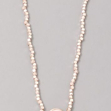 Rose Gold Nugget and Pearl Choker