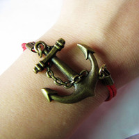Inspired BraceletVintage Style Anchor Metal and by braceletcool