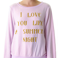 Wildfox Couture Love You Like Summer Baggy Beach Jumper Daisy