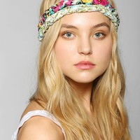 Urban Renewal Double-Braided Blossom Headband - Urban Outfitters