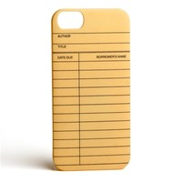 Library Card iPhone case | Outofprintclothing.com