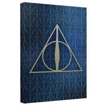 Harry Potter - Deathly Hallows Icons Canvas Wall Art With Back Board