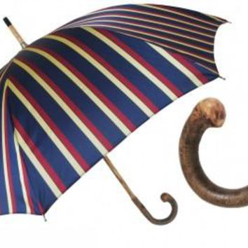 Pasotti Men's Navy Bold Stripes Umbrella