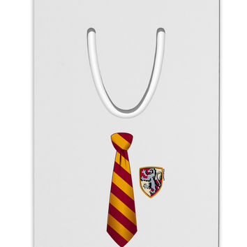 Wizard Tie Red and Yellow Aluminum Paper Clip Bookmark