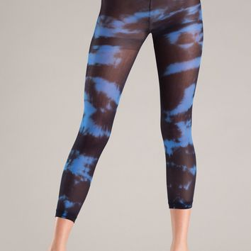Be Wicked Blue Tie Dye Footless Pantyhose