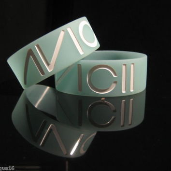 AVICII Glow in the Dark Silicone Wristband Bracelet Pick Your COLOR -4 Available