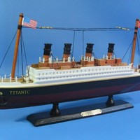 "Titanic 14"" Model Cruiseship - Already Built Not a Kit - Wooden Ship Model Cruise Ship Replica Scale Model Boat Nautical Home Beach Wall Décor or Gift - Sold Fully Assembled"