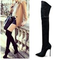 Aida Suede Thigh High Stiletto Boots