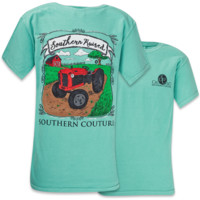 Southern Couture Comfort Color Southern Raised Tractor Girlie Bright T Shirt