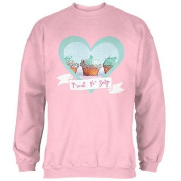 ONETOW Treat Yo Self Cupcakes Mens Sweatshirt