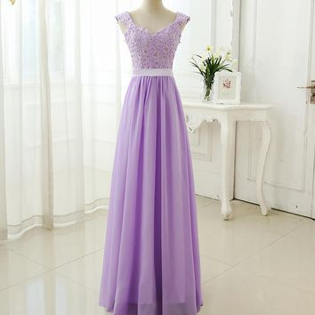 Abendkleider Lace Party Dress Pink Blue Red lilac Purple Gown
