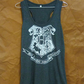Tank Top Sale clearance Cute clothing Hogwarts school Harry Potter shirt S M L XL sleeveless top racer back/ singlet/ t shirt/ sport clothes