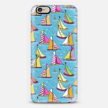 seagulls and sails iPhone 6 case by Sharon Turner | Casetify