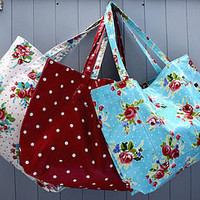 vintage inspired oilcloth weekend bag by love lammie | notonthehighstreet.com