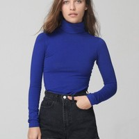 American Apparel - Stone Wash High-Waist Jean Cuff Short