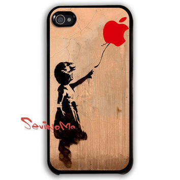 iPhone 4 Case - Banksy Balloon Girl iphone 4 case, iPhone 4s Case, iPhone 4 Hard Case, iPhone Case