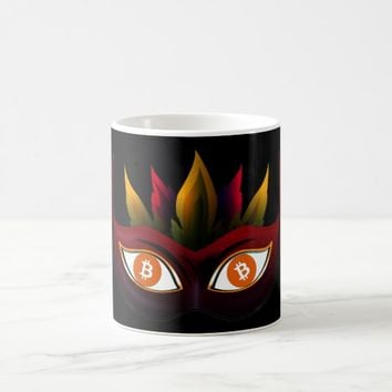 Cool Bitcoin Logo Mask Design Coffee Mug