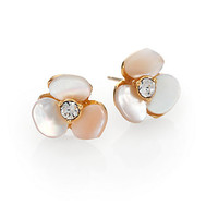Kate Spade New York - Mother-of-Pearl Pansy Stud Earrings