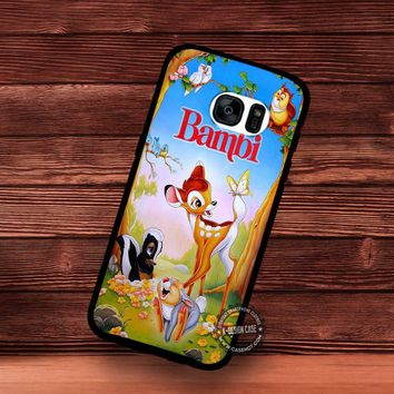 Book Bambi in The Forest Walt Disney - Samsung Galaxy S7 S6 S5 Note 7 Cases & Covers