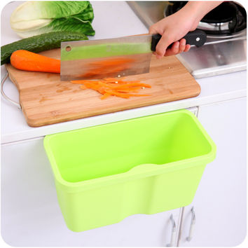 Innovative Kitchen Box Plastic Multi-function Storage Rubbish Bin [6395703172]