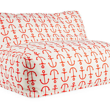 Anchor Outdoor Lounge Chair, Red, Outdoor Poufs