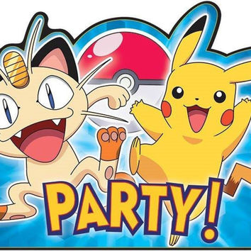 American Greetings Pokemon Party Invitations Cards Envelopes Save the Dates 8...