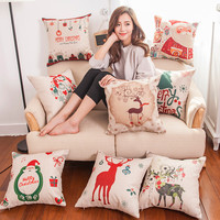 Christmas Cotton Linen Pillow Case [9601213135]