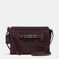 Coach Swagger Wristlet in Croc Embossed Nubuck