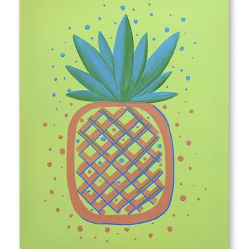 PINEAPPLE ORANGE Canvas Art By Paint That Ugly Thing