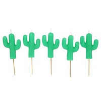 Cactus Cake Candle 5 Pack - Mint Green