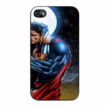 Superman And Wonder Woman 2 iPhone 4 Case