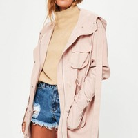 Missguided - Pink Oversized Parka
