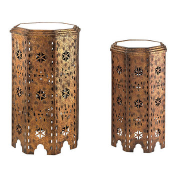 Gold & Bronze Moroccan Two-Piece Side Table Set | zulily