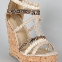 Chess-7 Snake Gladiator Open Toe Wedge