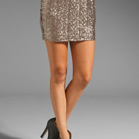Lovers + Friends All Night Mini Skirt in Grey Sequins from REVOLVEclothing.com
